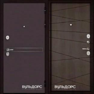 Дверь входная БУЛЬДОРС STANDART 90, D-4 Дуб шале мореный