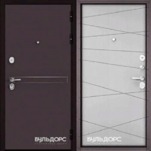 Дверь входная БУЛЬДОРС STANDART 90,  D-4 Дуб белый матовый