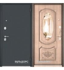 Дверь входная БУЛЬДОРС STANDART 70  Дуб крем 7S-141 зеркало
