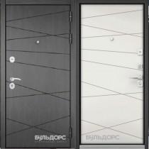 Дверь входная БУЛЬДОРС STANDART 70  Дуб морёный 7S-103
