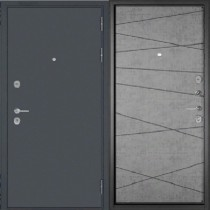 Дверь входная БУЛЬДОРС MASS 90 9S-130 Букле графит