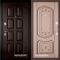 Дверь входная БУЛЬДОРС STANDART 70  Дуб кофейный матовый 7S-101
