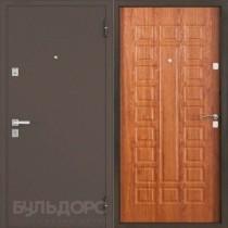Дверь входная БУЛЬДОРС 13 букле шоколад А-3 Дуб золотой