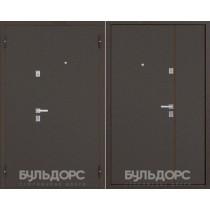 Дверь входная БУЛЬДОРС Steel 13Д (Двухстворчатая) Букле шоколад