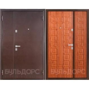 Дверь входная БУЛЬДОРС 13-Д (двухстворчатая)  Дуб золотой