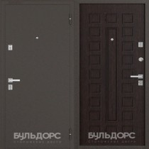 Дверь входная БУЛЬДОРС 13 Букле шоколад А-3 Венге