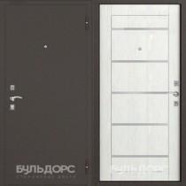 Дверь входная БУЛЬДОРС ECONOM-70 Царга Ларче бьянко