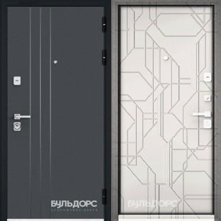 Дверь входная БУЛЬДОРС PREMIUM-90, МДФ белый софт