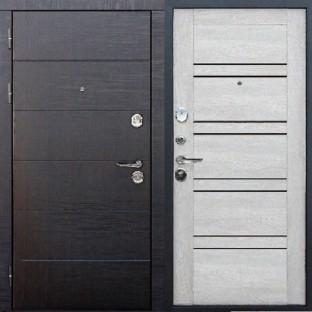 Дверь входная ЧИКАГО 10,5 см Царга Дуб шале белый