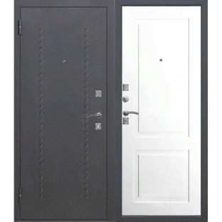 Дверь входная ДОМИНАНТА Муар Ясень белый эмаль