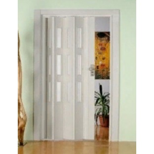 Дверь-гармошка ПВХ ФАВОРИТ Белая