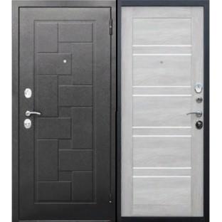 Дверь входная ГАРДА Серебро Шале белый