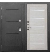 Дверь входная ИЗОТЕРМА 11 см Серебро Лиственница беж Царга