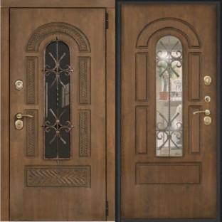 Дверь входная КЬЯНТИ Стеклопакет с ковкой