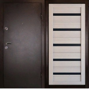 Дверь входная ТРОЯ М Царга Экодуб
