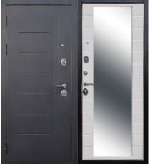 Дверь входная ТРОЯ Зеркало Фараон белая эмаль