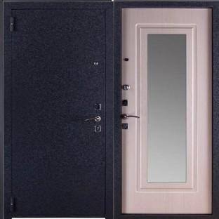 Дверь входная ЦАРСКОЕ ЗЕРКАЛО МУАР, Белый ясень