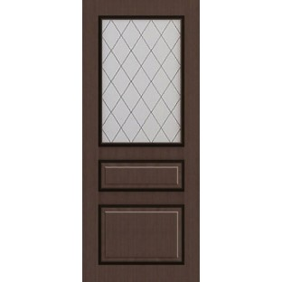 Дверь МИЛАН патина витраж