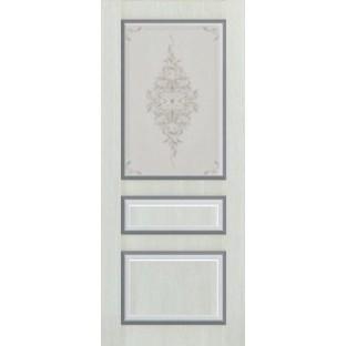 Дверь МИЛАН патина стекло с худ печатью