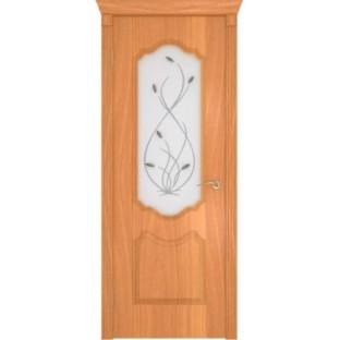 Дверь Орхидея стекло с фьюзингом