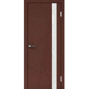 Дверь Перфект 1-2 белое стекло