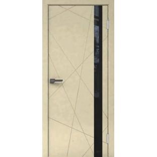 Дверь ПЕРФЕКТ 1-2 черное стекло