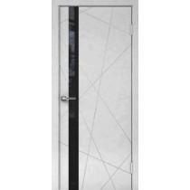 Дверь Перфект 1-1 черное стекло