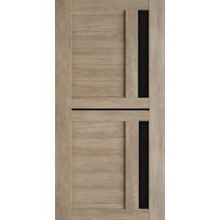 Дверь ТЕХНО-9 черное стекло