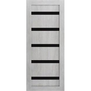 Дверь Техно 5-3D, стекло черное