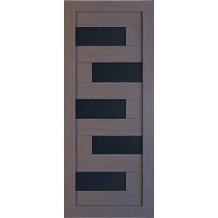 Дверь Домино стекло черное