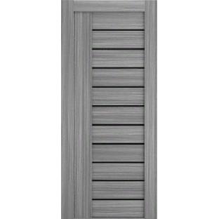 Дверь Техно-10, черное стекло
