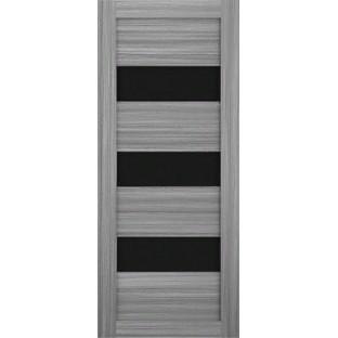 Дверь Техно 3, черное стекло