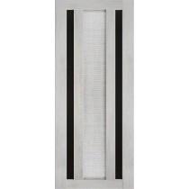 Дверь Техно 6-3D, стекло черное