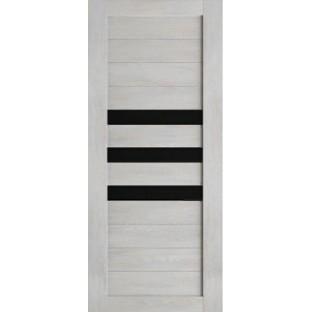 Дверь Техно 7, стекло черное