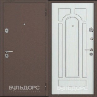 Дверь входная БУЛЬДОРС-14 медь  Шамбори светлый