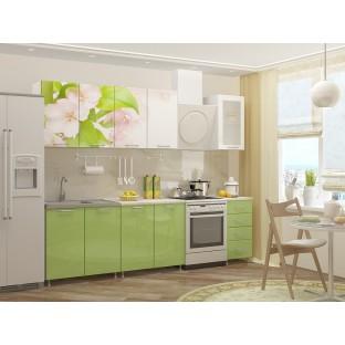 """Кухня """"Яблоневый цвет"""", 2.0 м.  ЛДСП"""