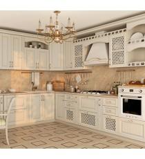 Кухня Массив Дуба - Дуб Беленый с золотой патиной