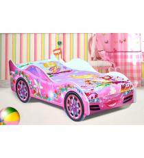 """Детская кровать-машинка """"Фея"""" для девочек"""