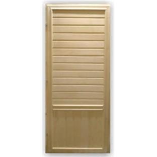 Дверь БАННАЯ с притвором 3 петли (липа)