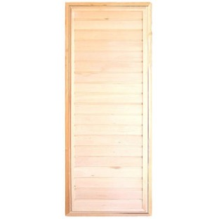 Дверь БАННАЯ простая прямая (липа)