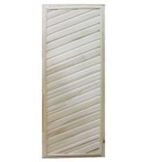Дверь БАННАЯ простая косая (липа)
